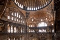 Interior view of Hagia Sophia in Istanbul, Turkey