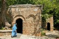 The House of the Virgin Mary is a Catholic and Muslim shrine located on Mt. Koressos in the vicinity of Ephesus, Turkey
