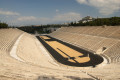 "Tour at the Panathenaic Stadium in Athens, also known as the Kallimármaro meaning the ""beautifully marbled"""
