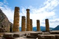 Ruins of the Temple of Apollo in Delphi