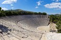 Panoramic view of the ancient theater of Epidaurus, Peloponnese