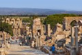Ancient ruins and archaeology monuments in Ephesus sightseeing tour, Turkey