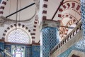 Rustem Pasha Mosque decorated with colorful tiles in Istanbul, Turkey