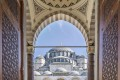 Gate to the court yard of Suleymaniye Mosque in Istanbul, Turkey