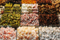 Traditional sweets and local delicacies at Grand Market in Istanbul, Turkey