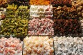 Traditional sweets and delicacies at the Grand Market in Istanbul, Turkey