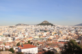 View of Athens and Lycabettus Hill