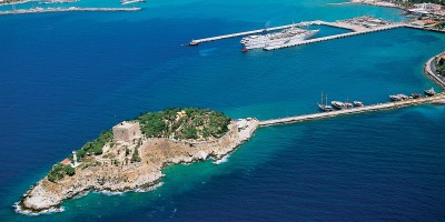 Elevated view of Kusadasi, Turkey
