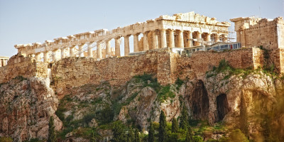 View of Parthenon on Acropolis Hill, Athens