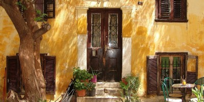 Traditional Greek door in Athens