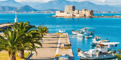 Bourtzi from the Nafplion waterfront