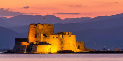 The Castle of Bourtzi in Nafplion