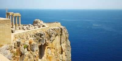 View from Old Castle in Lindos Town, Rhodes island