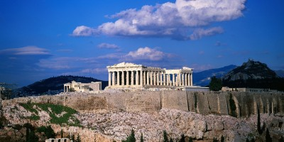 View of Parthenon on Acropolis Hill