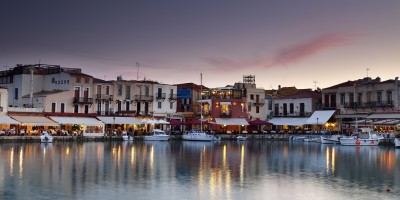 Rethymnon harbor view, Crete