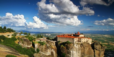 The Holy Monastery of St. Stephen, Meteora rock formations