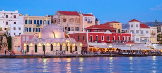 Venetian harbor of Chania, Crete