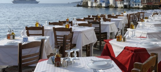 """Seaside tavern with amazing view next to the famous """"Little Venice"""", Mykonos"""