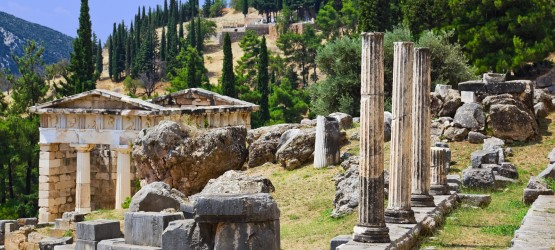 Delphi ancient city ruins, Greece mainland tour