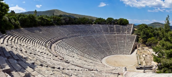 The ancient theater of Epidaurus, Peloponnese (Greek mainland)